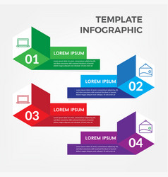 template business infographic vector image