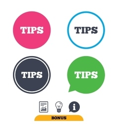 Tips sign icon Service money symbol vector