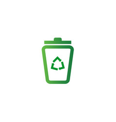 trash bin logo design template vector image