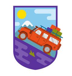 Travel truck car vector