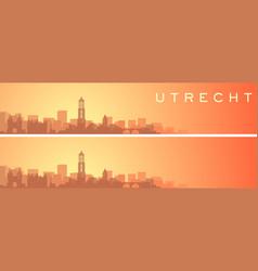 Utrecht beautiful skyline scenery banner vector