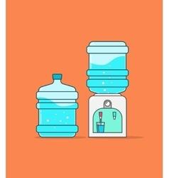 Water cooler dispenser full vector image