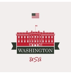 White house washington dc vector