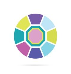 diamond in color vector image