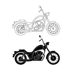 Line chopper motorcycles vector image vector image