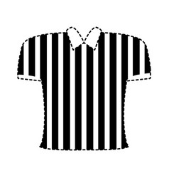referee shirt design vector image
