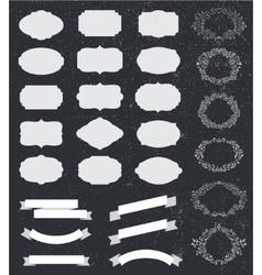 set of hand drawn floral frames vintage vector image vector image