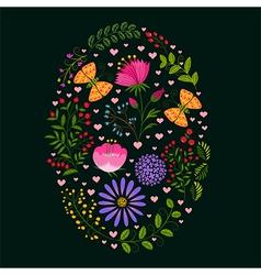 Springtime Colorful Flower Easter Holiday Backgrou vector image vector image