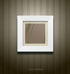 White frame square on wallpaper vector image