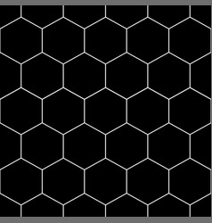white honeycomb hexagon seamless on black vector image vector image