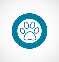 cat footprint icon bold blue circle border vector image vector image