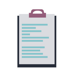 clipboard document file office object vector image