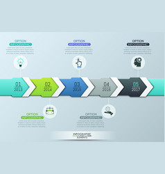 unique infographic design template 5 multicolored vector image vector image