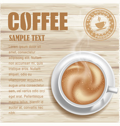 Coffee background vector image vector image