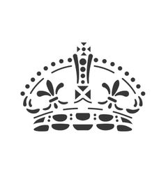 Crown icon Royalty design graphic vector image vector image