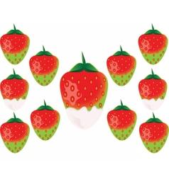 Delicious green strawberry vector image