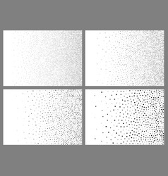 set of gradient halftone dots backgrounds vector image vector image