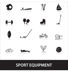 sport equipment eps10 vector image vector image
