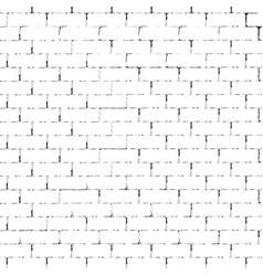 white brick wall silhouette vector image