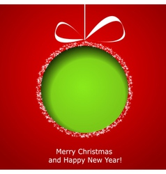 Abstract green Christmas ball vector image vector image