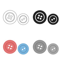 Buttons icon of for web and vector