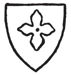 Quatrefoil is a piercing or panel divided vintage vector