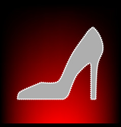 woman shoe style vector image