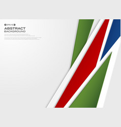 abstract of gradient red blue green paper cut vector image