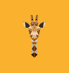 abstract polygonal triangle giraffe vector image