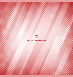 abstract red and white color geometric technology vector image