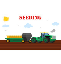 Agriculture design concept - seed planting process vector