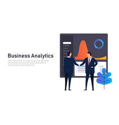 analytics business data dashboard financial vector image