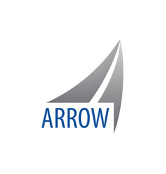 arrow up logo concept design symbol graphic vector image