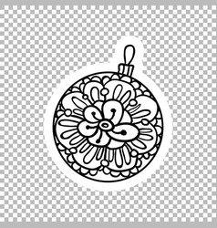 ball decor sticker ornate vector image