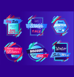 big sale discount offer on vector image