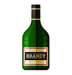bottle brandy alcohol drinks lable style vector image
