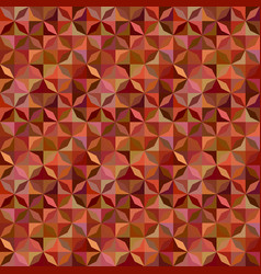 Brown abstract striped shape mosaic pattern vector