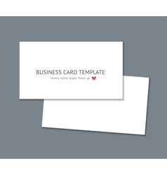 Business card template mock up vector image