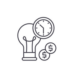 Business efficiency line icon concept business vector