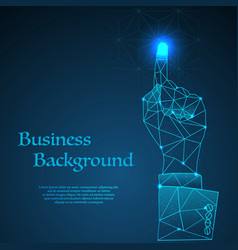 business hand background vector image