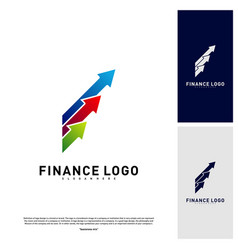 Business stats finance logo concept finance logo vector