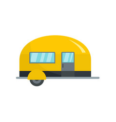 Camp trailer icon flat style vector