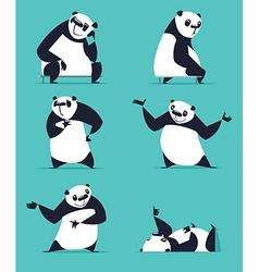 Cartoon Panda Set vector
