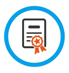 Certified diploma rounded icon vector