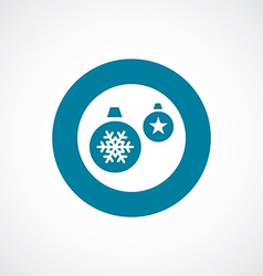Christmas Decorations icon bold blue circle border vector image