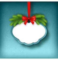 Christmas Greeting Frame Card vector image