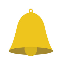 christmas or school bell symbol knowledge vector image