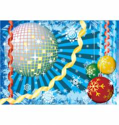 Christmas snow party vector image