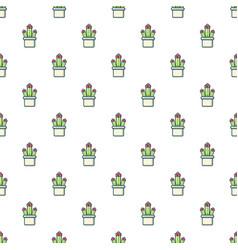 Cleistocactus pattern seamless vector