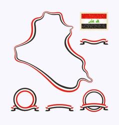 colors iraq vector image
